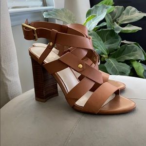 Aldo strappy brown heels